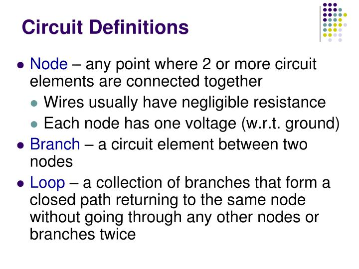 Circuit Definitions