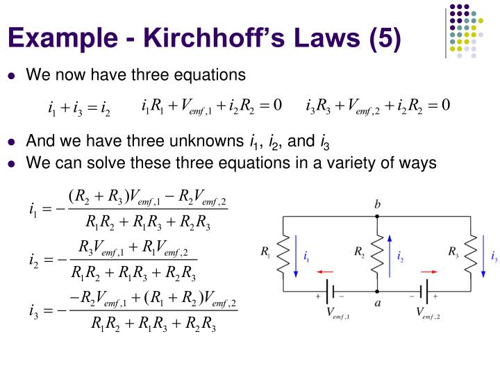 Example - Kirchhoff's Laws (5)