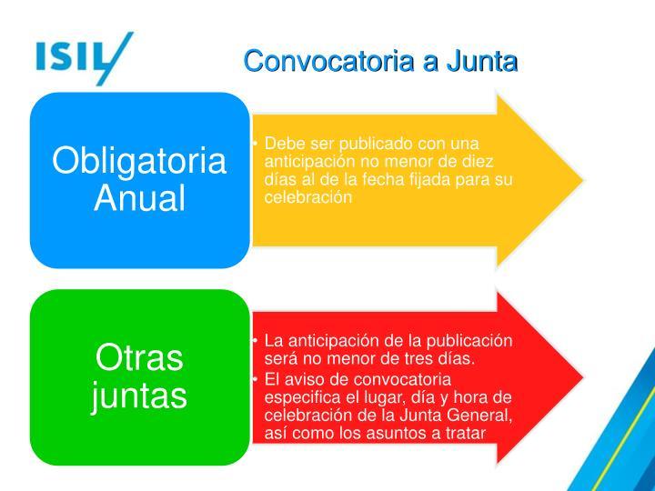 Convocatoria a Junta