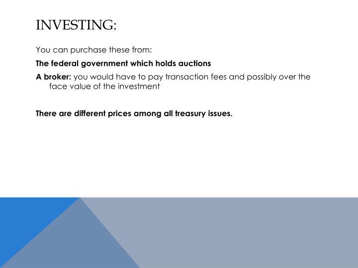 investing:
