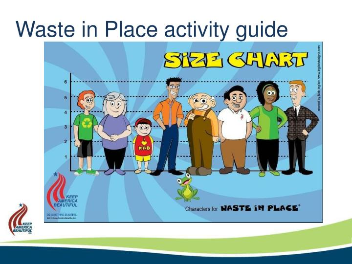 Waste in Place activity guide