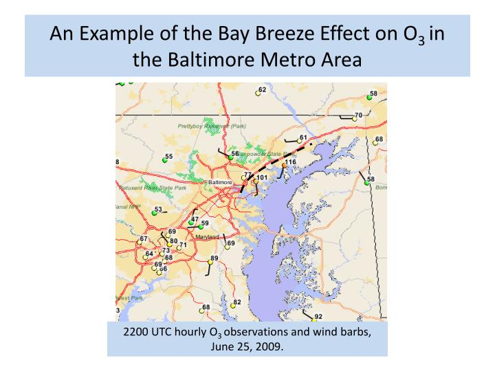 An Example of the Bay Breeze Effect on O
