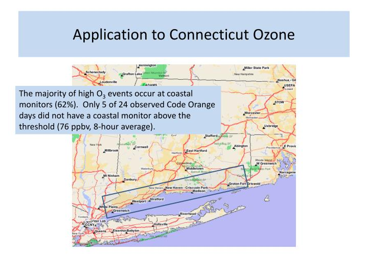 Application to Connecticut Ozone