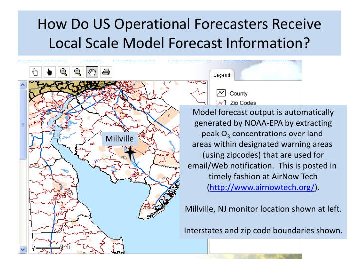 How Do US Operational Forecasters Receive Local Scale Model Forecast Information?