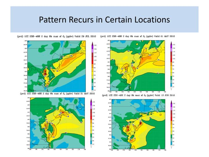 Pattern Recurs in Certain Locations