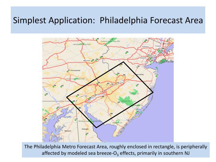 Simplest Application:  Philadelphia Forecast Area