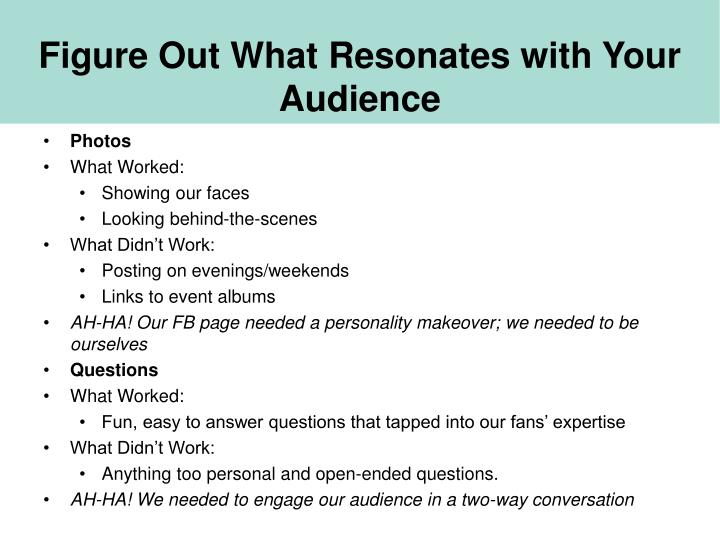 Figure Out What Resonates with Your Audience