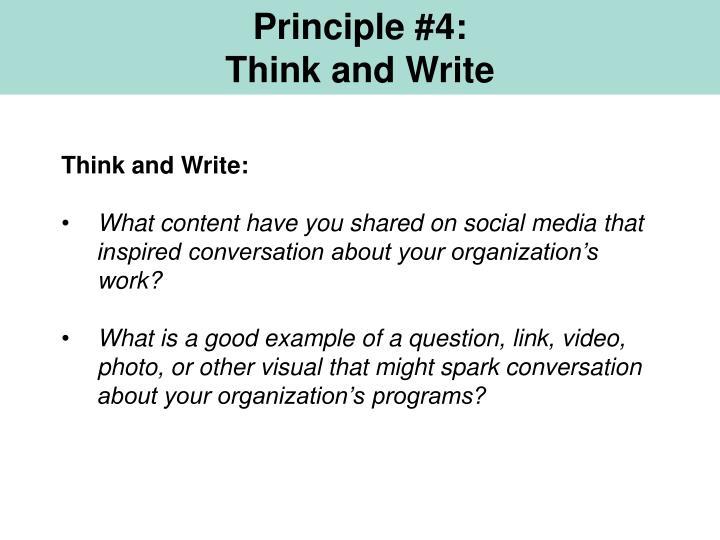 Principle #4: