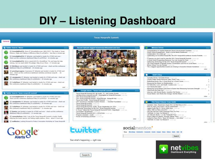 DIY – Listening Dashboard