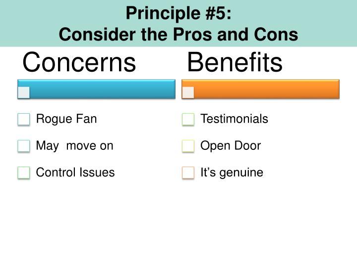 Principle #5:
