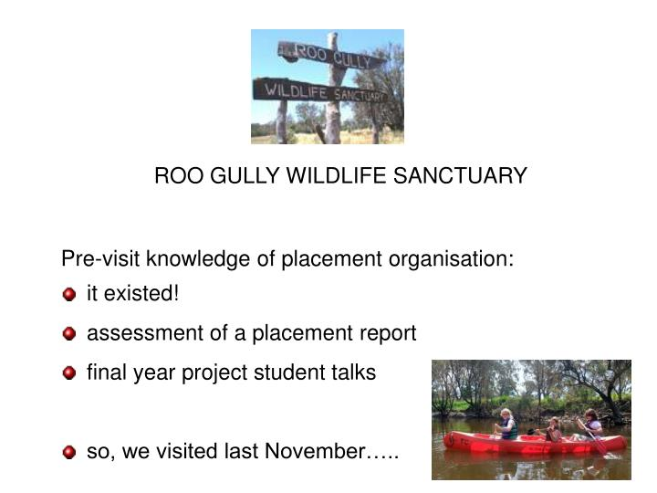 ROO GULLY WILDLIFE SANCTUARY