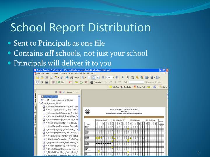 School Report Distribution