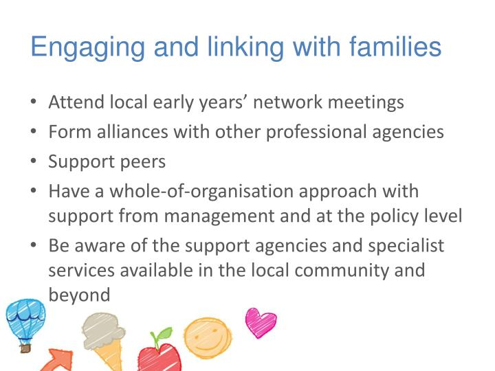 Engaging and linking with families