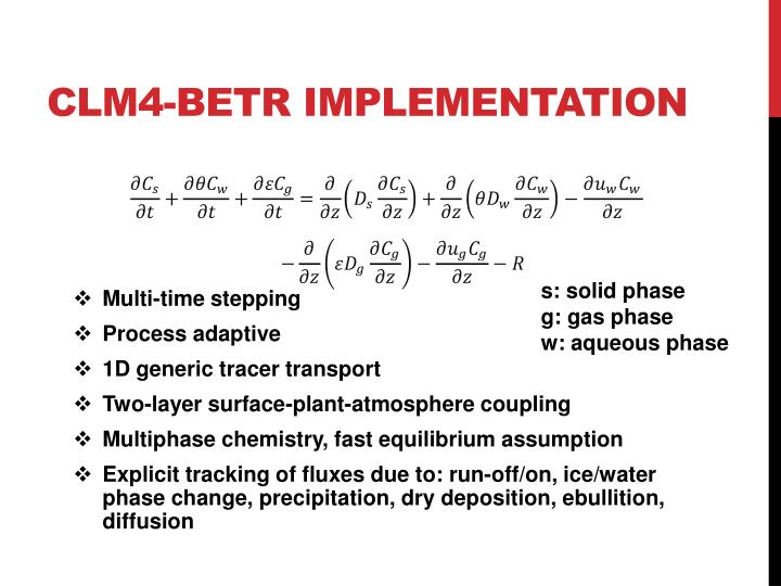 CLM4-BeTR Implementation