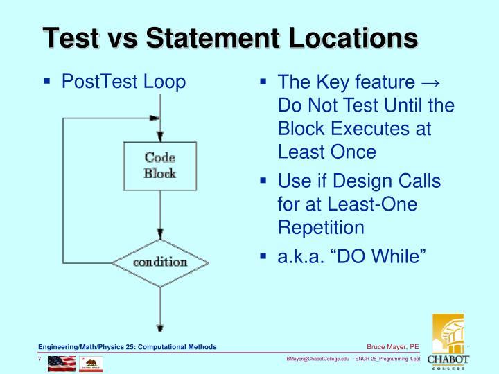 PostTest Loop