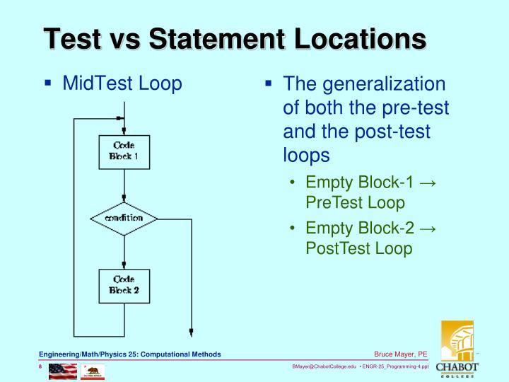 MidTest Loop