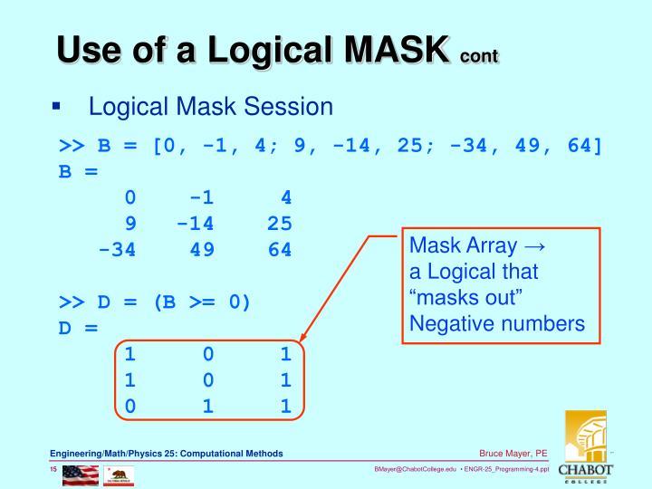 Logical Mask Session