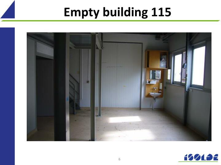 Empty building 115