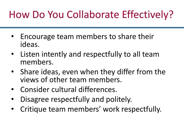 How Do You Collaborate Effectively?