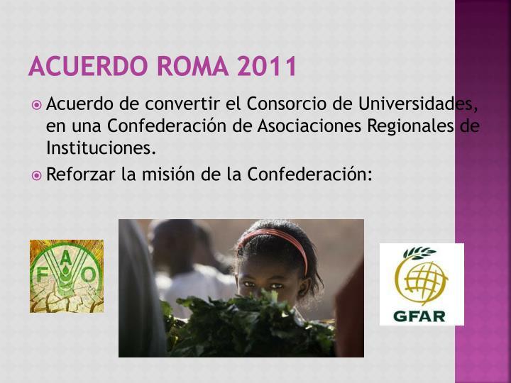 Acuerdo Roma 2011