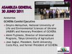 asamblea general 30 junio 2011