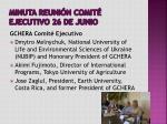 minuta reuni n comit ejecutivo 26 de junio