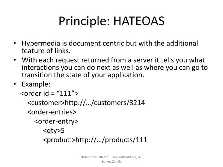 Principle: HATEOAS