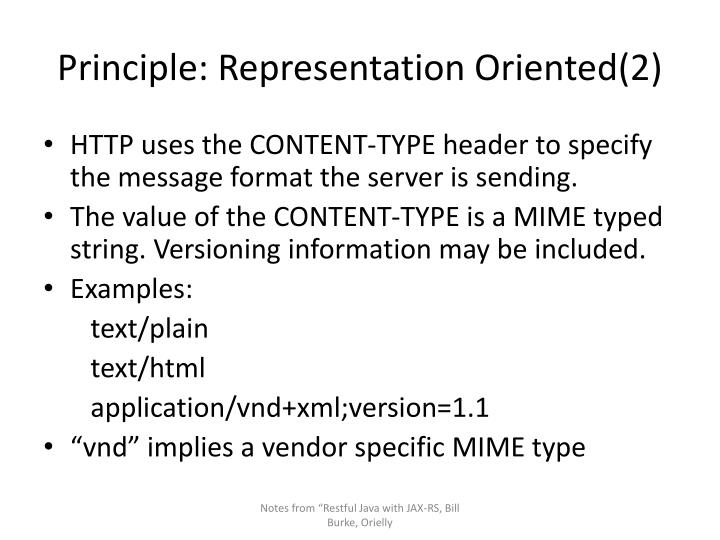 Principle: Representation Oriented(2)