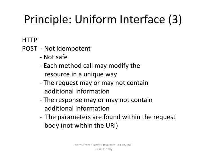Principle: Uniform Interface (3)