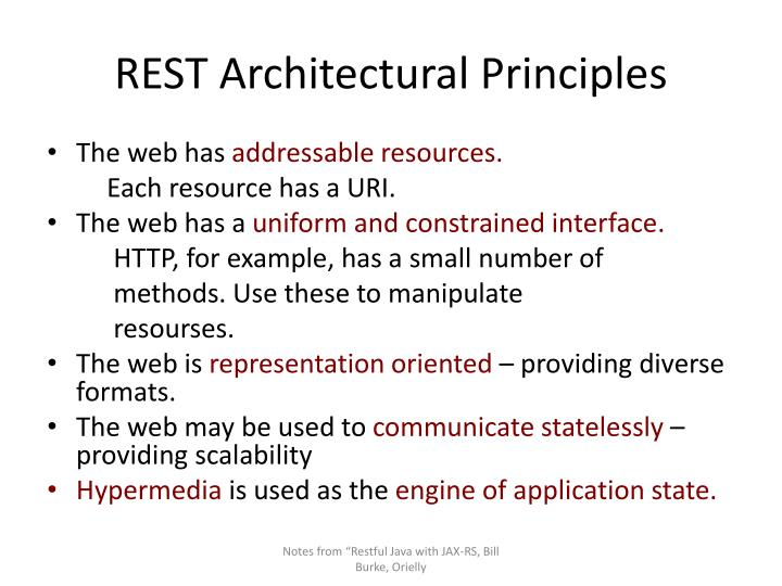 REST Architectural Principles