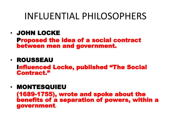 INFLUENTIAL PHILOSOPHERS