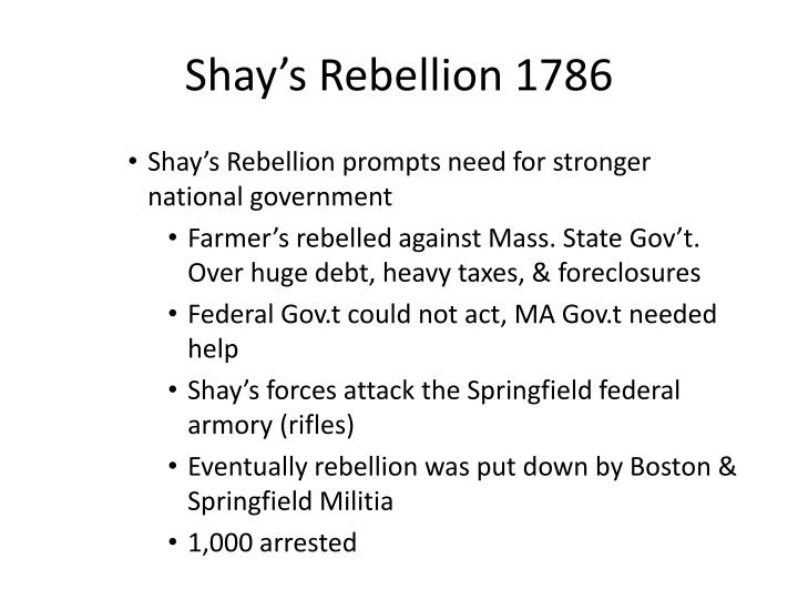 Shay's Rebellion 1786