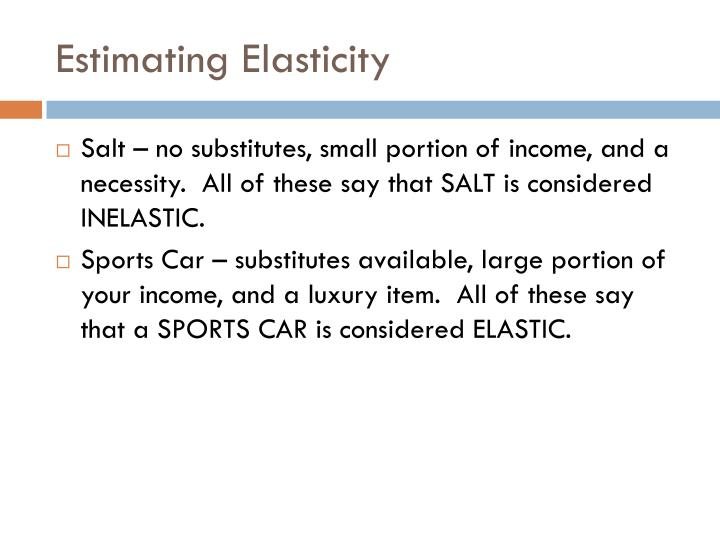 Estimating Elasticity