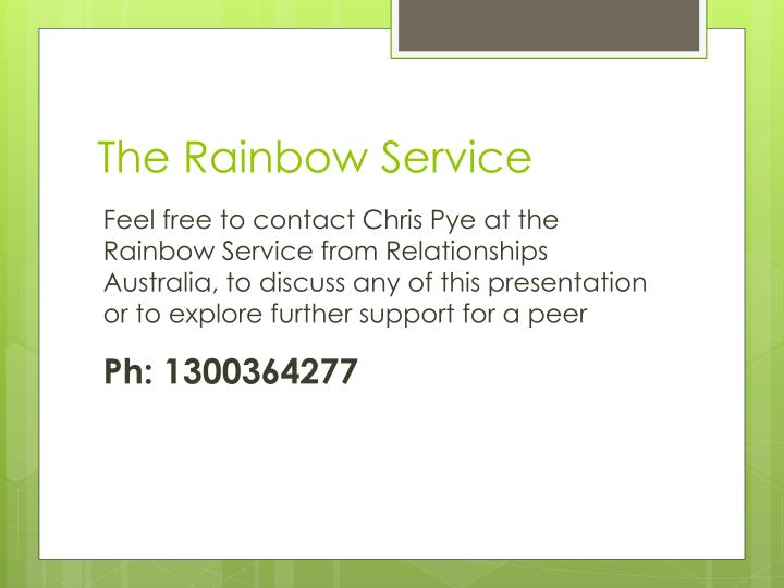 The Rainbow Service