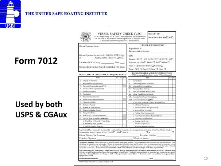 Form 7012
