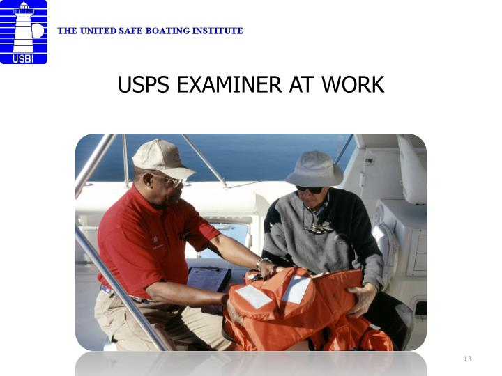 USPS EXAMINER AT WORK