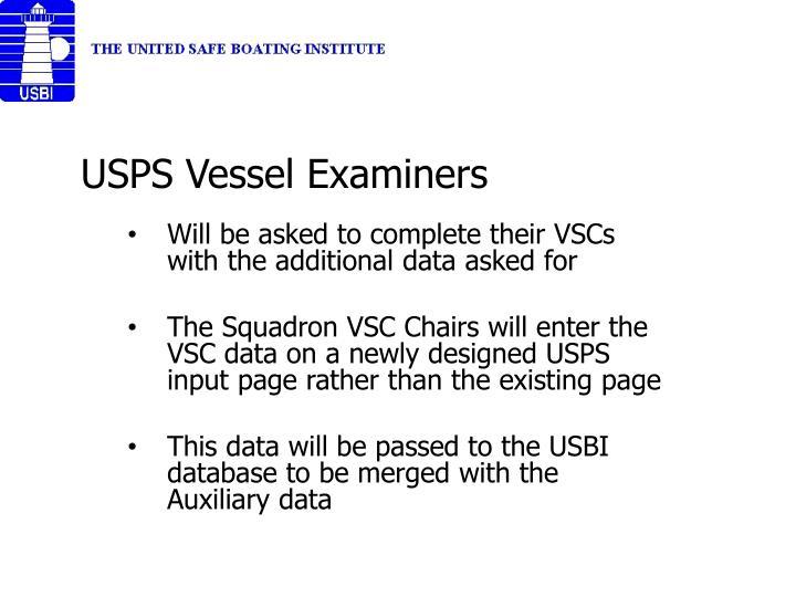 USPS Vessel Examiners
