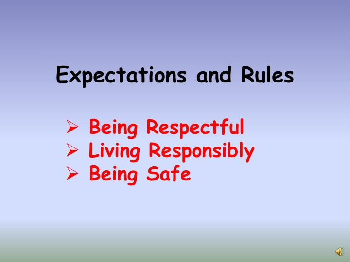 Expectations and rules