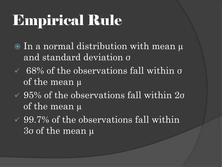 Empirical Rule