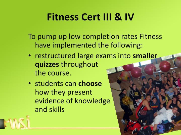 Fitness Cert III & IV