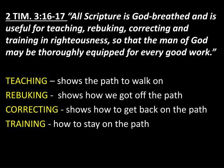 2 Tim. 3:16-17