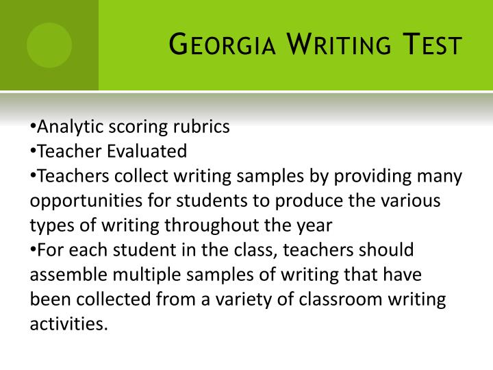 Georgia Writing Test