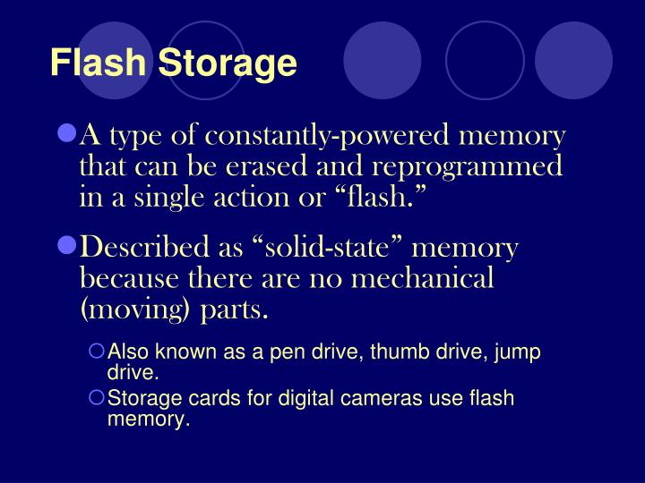 Flash Storage