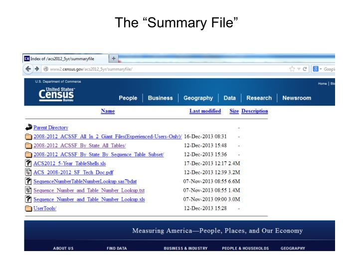 "The ""Summary File"""