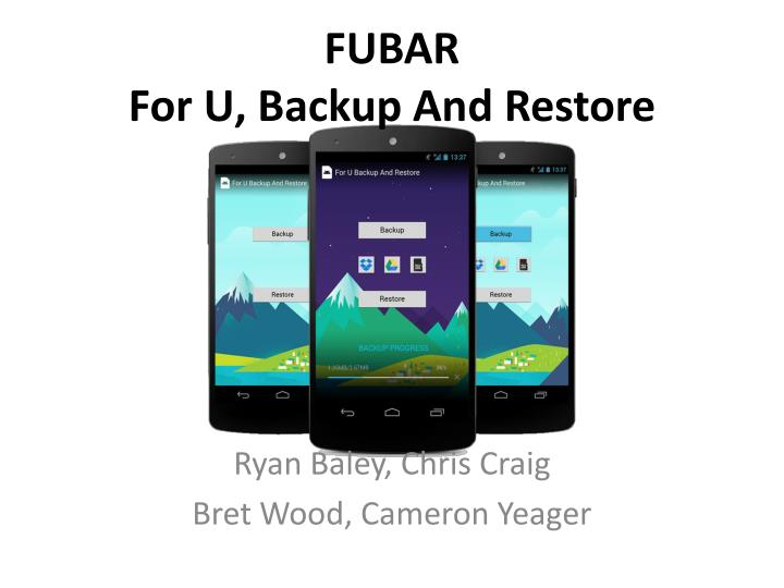 Fubar for u backup and restore