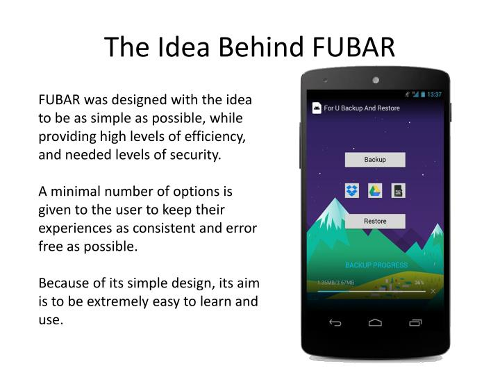 The Idea Behind FUBAR