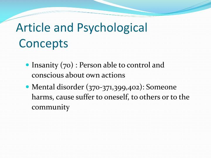 Article and Psychological