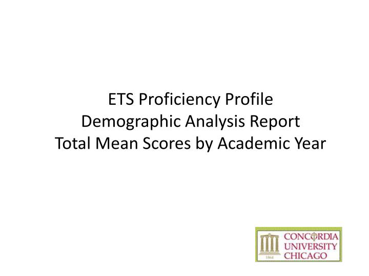 ETS Proficiency Profile