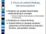 4 focus on student thinking and metacognition
