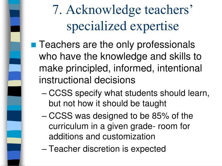 7. Acknowledge